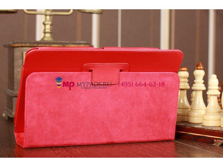 Фирменный чехол-обложка для Acer Iconia Tab A200/A201 красный кожаный..