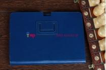 Чехол-обложка для Acer Iconia Tab A700/A701 синий кожаный