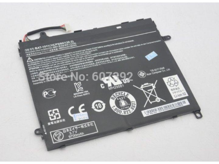 Фирменная аккумуляторная батарея BAT1011 1ICP5/80/120-2  9800mah 9800mAh на планшет  Acer Iconia Tab A700/A701..