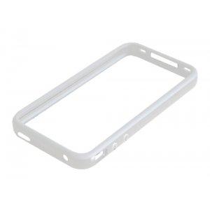 Чехол-бампер для Apple iPhone 4/4S белый силиконовый