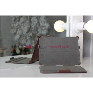 Фирменный чехол для Amazon Kindle Fire HD 7.0 коричневый кожаный