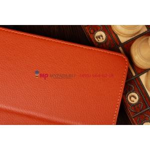 Фирменный чехол-обложка для Amazon Kindle Fire HD 7.0 оранжевый кожаный