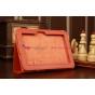 Фирменный чехол-обложка для Amazon Kindle Fire HD 7.0 оранжевый кожаный..