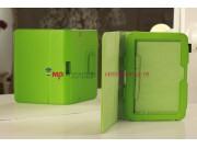 Фирменный чехол-обложка для Amazon Kindle Fire HD 7.0 зеленый кожаный..