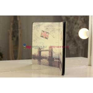 "Чехол для Apple iPad 2/3/4 ""тематика Тауэрский мост Англия"" кожаный"