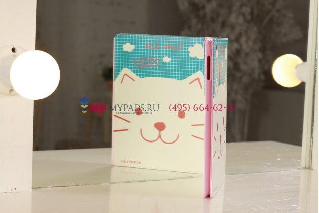 "Чехол для Apple iPad 2/3/4 ""тематика веселый кот"" кожаный"