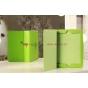 Фирменный чехол-книга для iPad 2/3/4 зеленый кожаный..