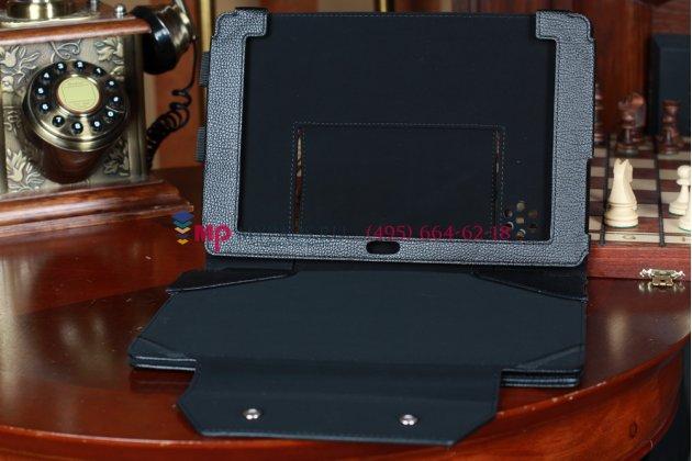 Чехол для Asus Padfone 1 A66 черный с секцией под клавиатуру кожаный