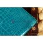 Чехол для Asus Transformer Pad TF300 кожа крокодила голубой