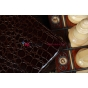 Чехол для Asus Transformer Pad TF300 кожа крокодила коричневый