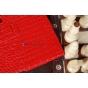 Чехол для Asus Transformer Pad TF300 кожа крокодила красный