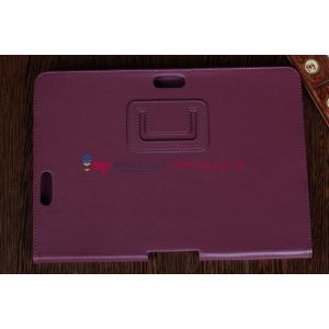 Фирменный чехол для Asus Transformer Pad TF300/TF300TG/TF300TL фиолетовый кожаный