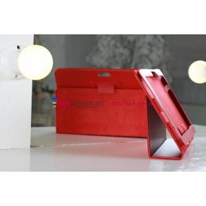 Фирменный чехол для Asus Transformer Pad Infinity TF700T/TF700KL красный кожаный