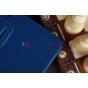 Фирменный чехол для Asus Transformer Pad Infinity TF700T/TF700KL синий кожаный