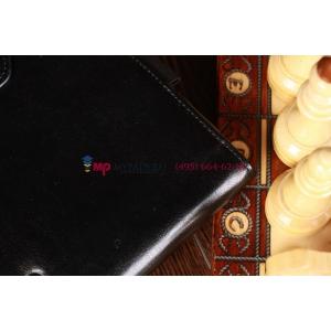 Фирменный чехол для Asus Vivo Tab RT TF600T/TF600TG черный с секцией под клавиатуру кожаный