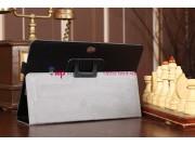 Фирменный чехол для Asus VivoTab RT TF600T/TF600TG черный кожаный..