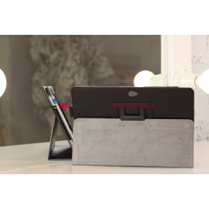 Фирменный чехол для Asus VivoTab RT TF600T/TF600TG черный кожаный
