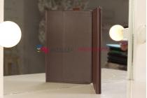 Чехол для Asus VivoTab RT TF600T/TF600TG коричневый кожаный