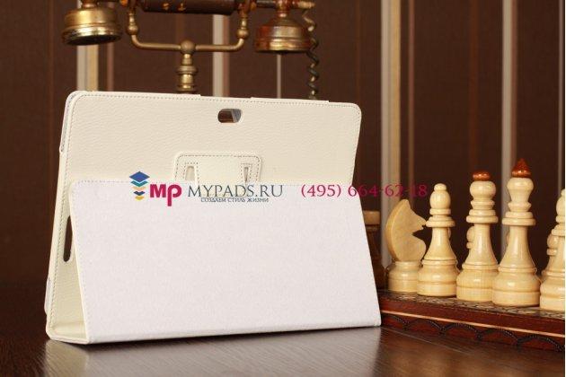 Фирменный чехол-обложка для Asus VivoTab RT TF600T/TF600TG белый кожаный