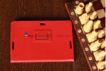 Фирменный чехол-обложка для Asus VivoTab RT TF600T/TF600TG красный кожаный