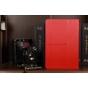 Фирменный чехол-обложка для Asus VivoTab RT TF600T/TF600TG красный кожаный..