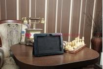 Фирменный оригинальный чехол для Asus EEE Pad Transformer Prime TF201/TF201G черный кожаный