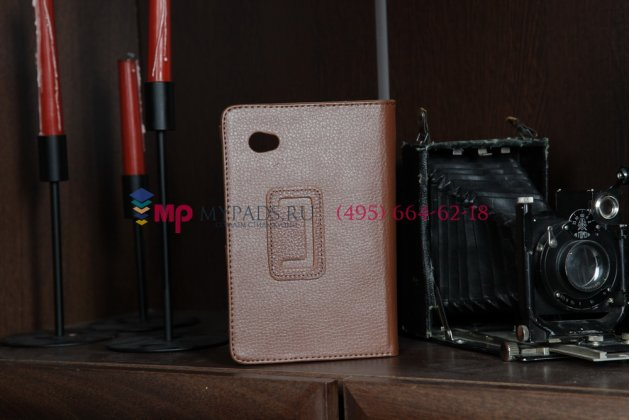 Чехол для Samsung 7.0 P6200 коричневый кожаный