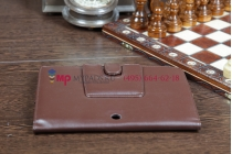 Чехол для Sony Tablet S коричневый кожаный