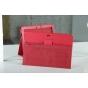 Фирменный чехол для Asus EEE Pad Transformer Prime TF201/TF201G красный кожаный..