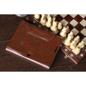 Чехол для Asus EEE Pad Transformer Prime TF201/TF201G Dock Keyboard коричневый с отделением под клавиатуру кожаный