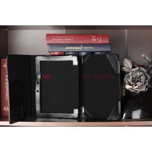 Фирменный чехол для Asus Transformer Pad Infinity TF700 с док-станцией черный кожаный