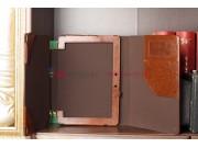 Фирменный чехол для Asus Transformer Pad Infinity TF700T/TF700KL коричневый c секцией под клавиатуру кожаный..