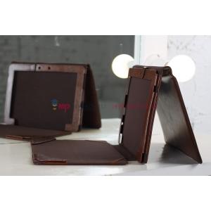 Фирменный чехол для Asus Transformer Pad Infinity TF700T/TF700KL коричневый c секцией под клавиатуру кожаный