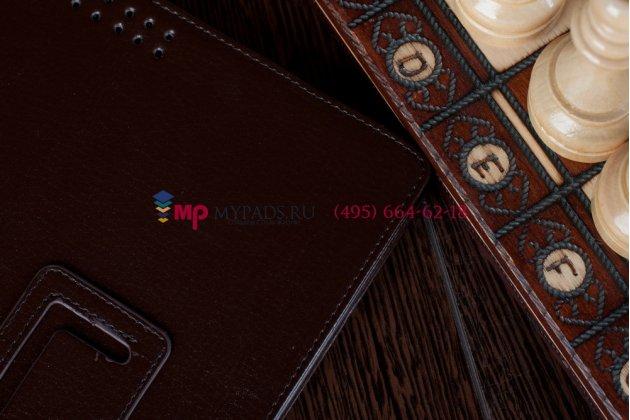 Фирменный чехол для Asus EEE Pad Transformer Prime TF201/TF201G коричневый кожаный