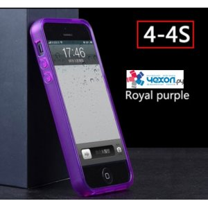 Чехол-бампер для Apple iPhone 4/4S фиолетовый силиконовый
