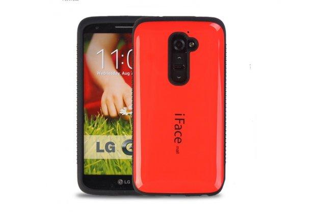 Фирменная роскошная задняя панель-крышка из силикона для LG G2 (D802) красная глянцевая