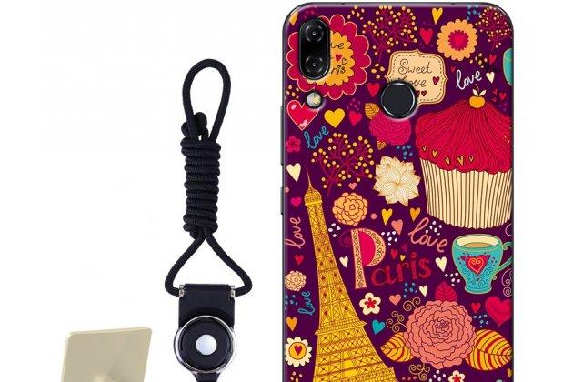"""Фирменная роскошная задняя панель-чехол-накладка  из мягкого силикона с безумно красивым расписным 3D рисунком на ASUS ZenFone 5/ 5Z (ZE620KL/ZS620KL) """"тематика Париж"""""""