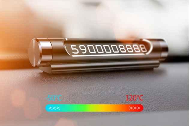 Фирменная металлическая табличка BASEUS с номером телефона на панель в автомобиль
