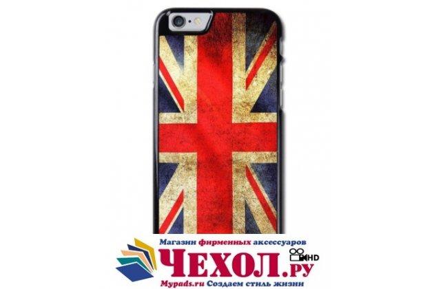 """Фирменная необычная из легчайшего и тончайшего пластика задняя панель-чехол-накладка для Samsung Galaxy J7 SM-J700F /Dual Sim/ Duos  """"тематика Британский флаг"""""""