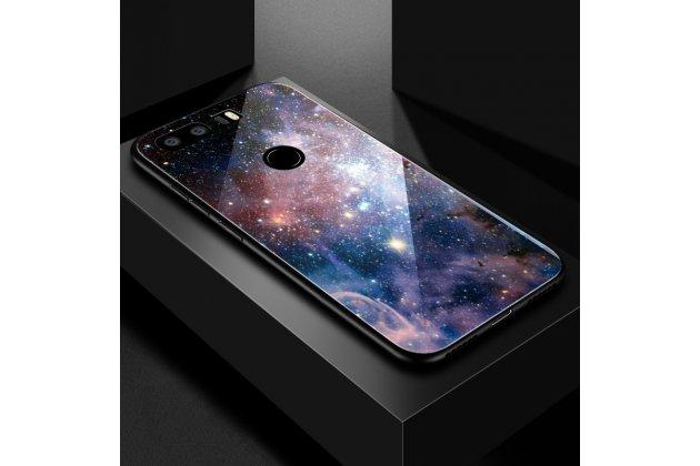 """Фирменный ультра-тонкий силиконовый чехол-бампер для Huawei Honor 8X (JSN-L21) 6.5"""" с закаленным стеклом на заднюю крышку телефона с изображением """"Звезды"""""""