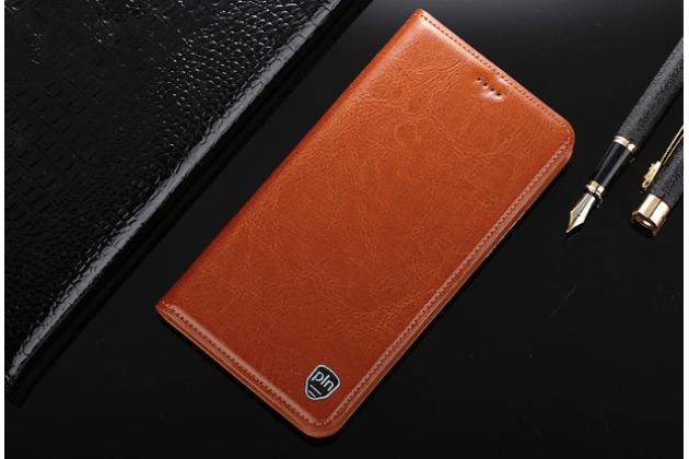 """Фирменный чехол-книжка из качественной импортной кожи с мульти-подставкой и визитницей для Huawei Honor 8X (JSN-L21) 6.5"""" светло-коричневый"""