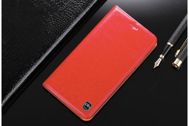 """Фирменный чехол-книжка из качественной импортной кожи с мульти-подставкой и визитницей для Huawei Honor 8X (JSN-L21) 6.5"""" красный"""