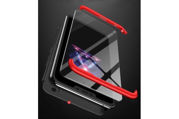 """Фирменный уникальный чехол-бампер-панель с полной защитой дисплея и телефона по всем краям и углам для Huawei Honor 8X (JSN-L21) 6.5"""" синий"""