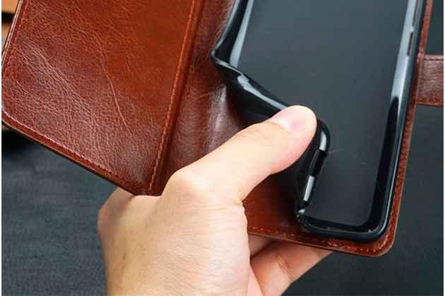 """Фирменный чехол-книжка из качественной импортной кожи с подставкой застёжкой и визитницей для Huawei Honor 8X (JSN-L21) 6.5"""" белый"""