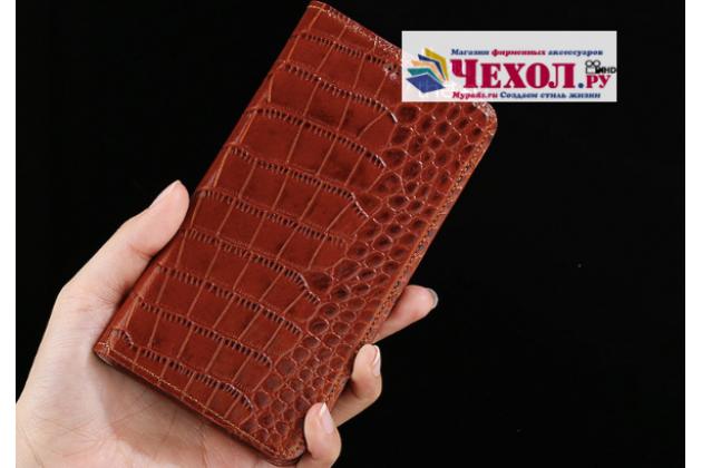 """Фирменный роскошный эксклюзивный чехол с фактурной прошивкой рельефа кожи крокодила и визитницей кофейный для Huawei Honor 8X (JSN-L21) 6.5"""". Только в нашем магазине. Количество ограничено"""