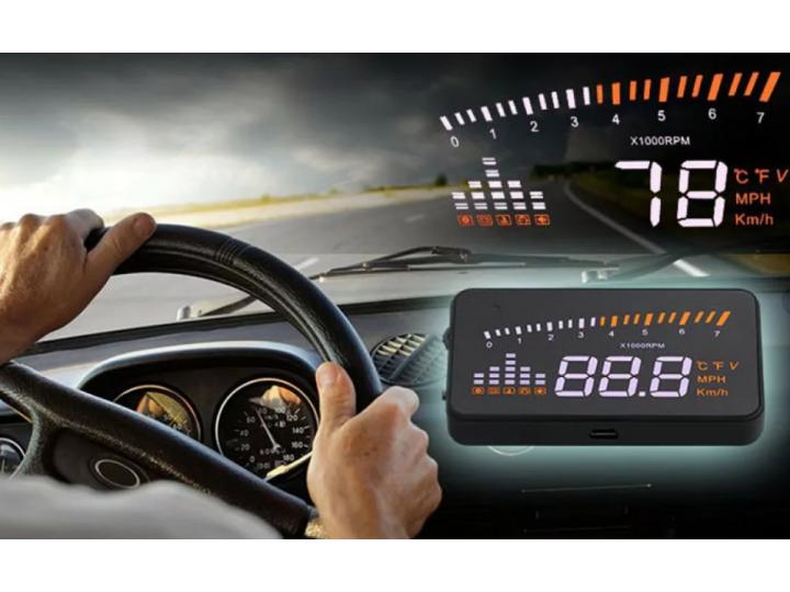 HUD проектор скорости для лобового стекла автомобиля, автоматически адаптируется к автомобилям с интерфейсом O..