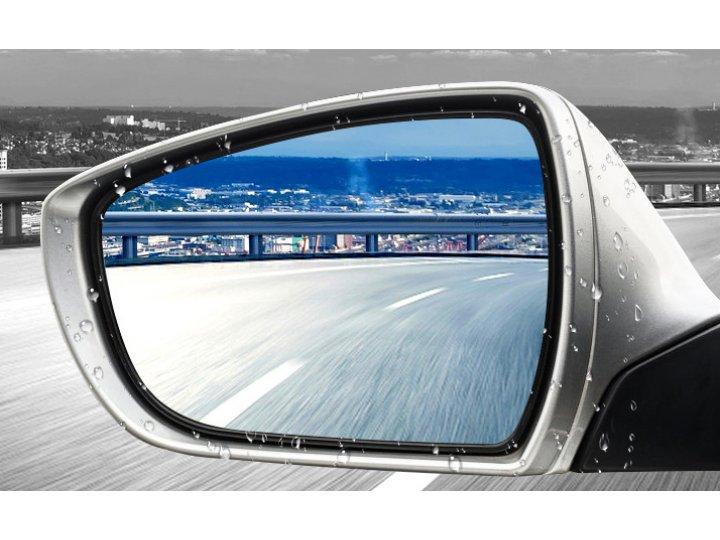 Универсальная противотуманная непромокаемая пленка антидождь для боковых зеркал автомобиля (17х20см 2шт)..