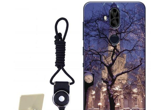"""Фирменная роскошная задняя панель-чехол-накладка  из мягкого силикона с безумно красивым расписным 3D рисунком на ASUS ZenFone 5 Lite ZC600KL 3/ 4 """"тематика Ночной город"""""""