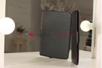 """Фирменный чехол открытого типа без рамки вокруг экрана с мульти-подставкой для Google Samsung Nexus 10 черный кожаный """"Deluxe"""""""