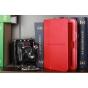Чехол для Google Samsung Nexus 10 красный кожаный